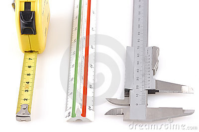 Three different measuring tools