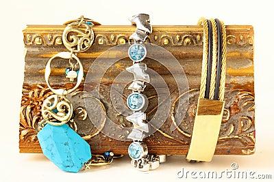 Three different precious bracelets