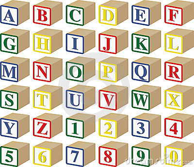 baby block letters and numbers royalty free stock photos image 10394638