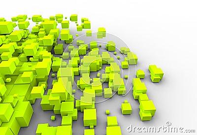 Three-dimensional color blocks