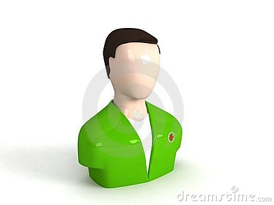 Three dimensional doctor character