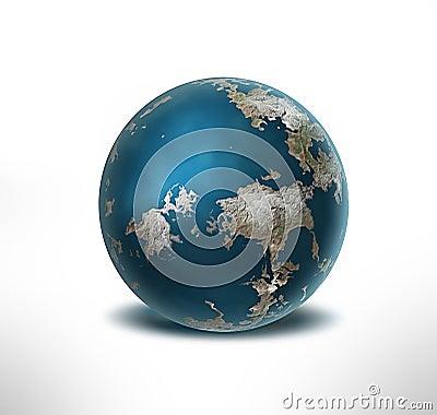 Three-dimensional  earth