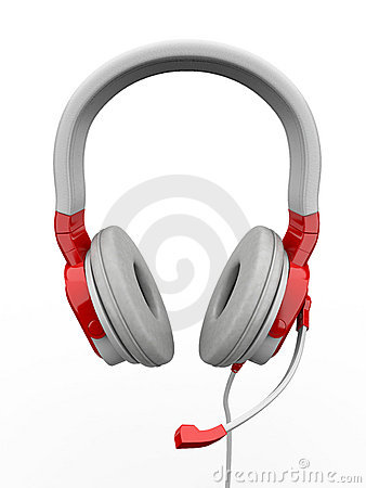 Three-dimensional headphones. 3d