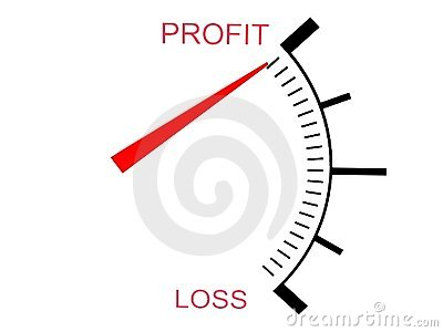 Three dimensional  loss and profit gauge