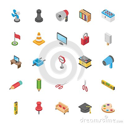 Free Three Dimensional Pack Of Objects Royalty Free Stock Image - 132073916