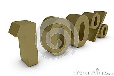 Three dimensional percent in gold