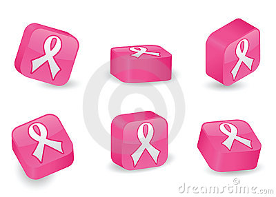 Three-Dimensional Pink Ribbon Blocks
