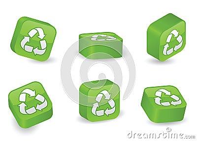 Three-Dimensional Recycling Blocks