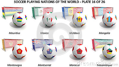 Soccer playing nations of the world