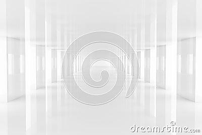 Three dimensional rendering white passage