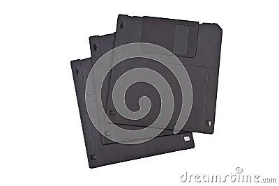 Three diskettes
