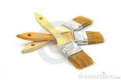 Three Disposable Paint Brushes