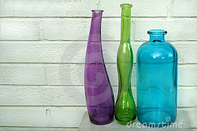 Three Distorted Bottles