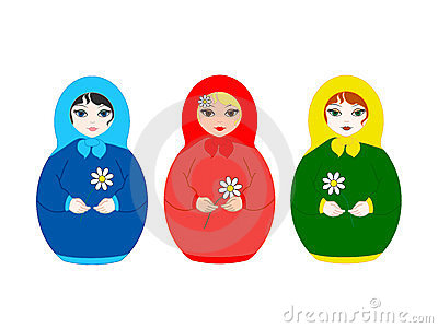 Three dolls Matryoshka
