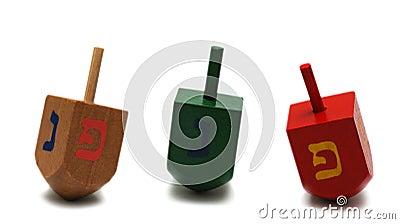 Three dreidels - hanukkah symbol