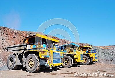 Three dump-body truck