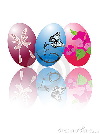 Free Three Easter Eggs Stock Photography - 12992202
