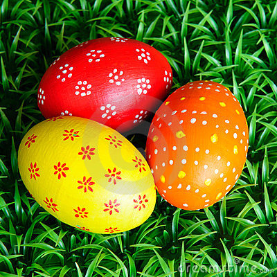 Free Three Easter Eggs Stock Photography - 24190942