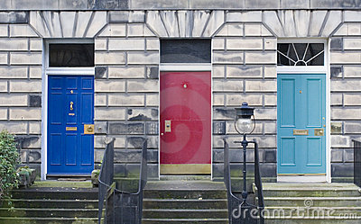 Three Edinburgh Doors
