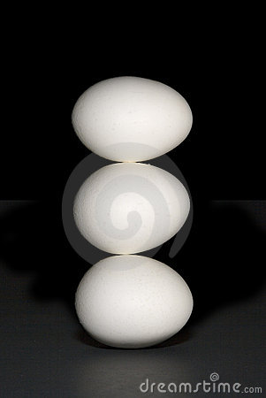 Three eggs, vertical