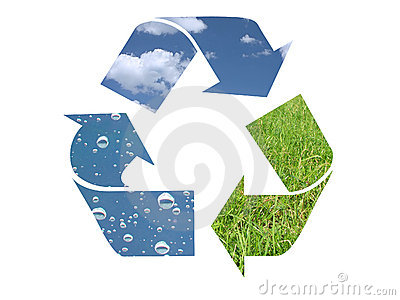 Three element recycling symbol