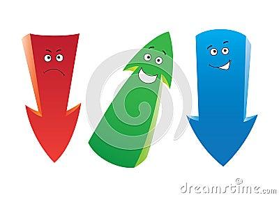Three emotion arrows