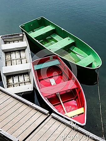 Free Three Empty Boats Stock Photos - 37759343