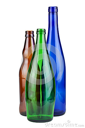Free Three Empty Bottles Royalty Free Stock Photos - 36154408