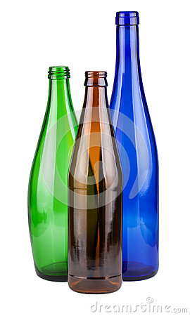 Free Three Empty Bottles Stock Image - 36699361