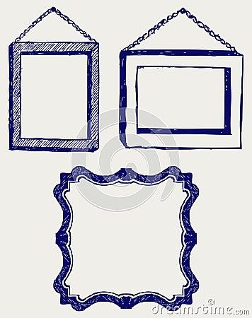 Three empty frame