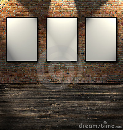 Free Three Empty Frames Stock Photo - 8169250