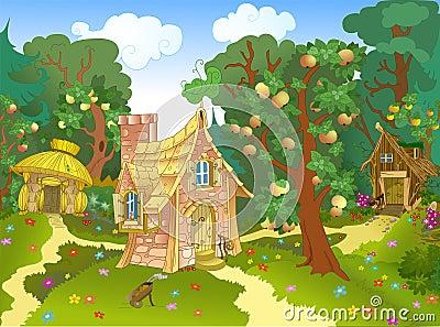 Three Fabulous House Stock Vector - Image: 42166408