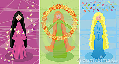 Three fairies connected among themselves