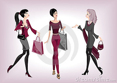 Three fashionable women