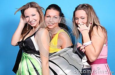 Three female friends together