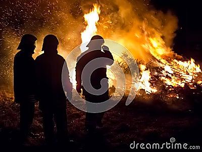 Three firemen