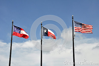 Three flags of Texas