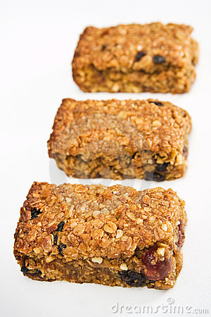 Free Three Flapjack Pieces In A Row Royalty Free Stock Photography - 13861607
