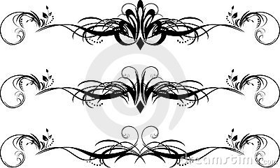 Three floral pattern for design of frames