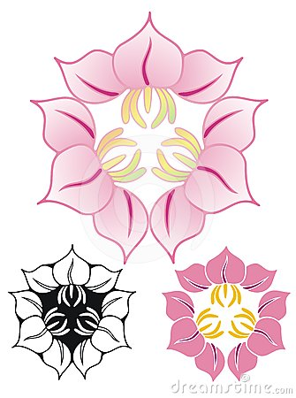 Three flower emblem