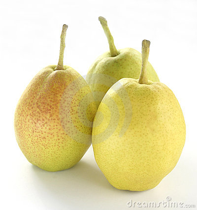 Free Three Fragrant Pears Royalty Free Stock Images - 2152159