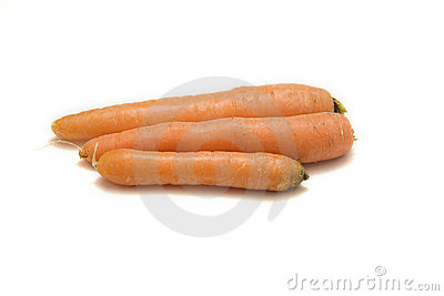 Three fresh carrots