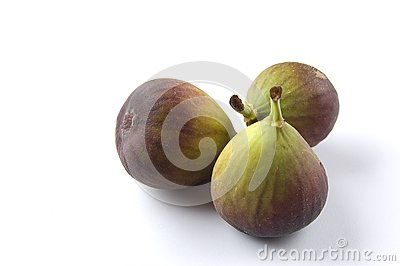 Three fresh figs