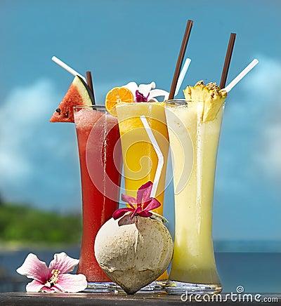 Three fresh juices