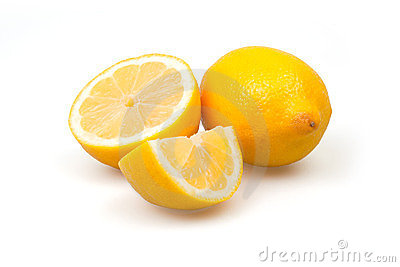 Three fresh lemons