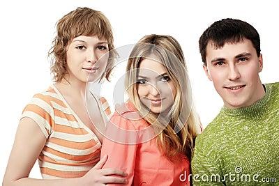 Three of friends