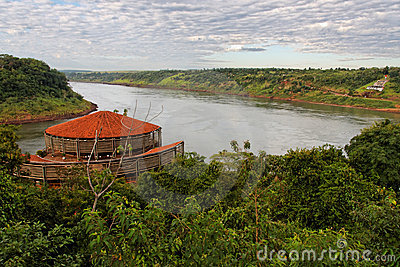 The Three Frontier Border Iguassu Stock Photography - Image: 5508962
