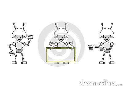 Three funky robots