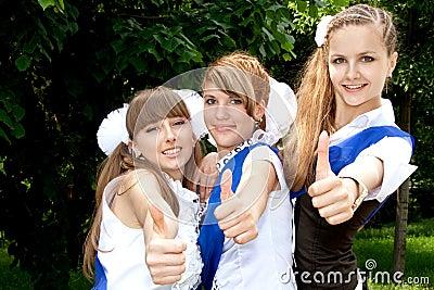 Three funny graduates