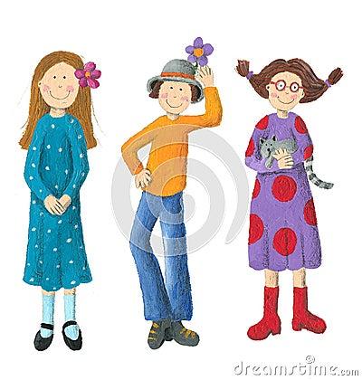 Three Funny Kids